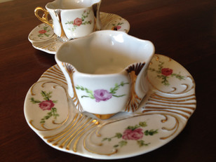 Set 2  finest porcelaine hand painted