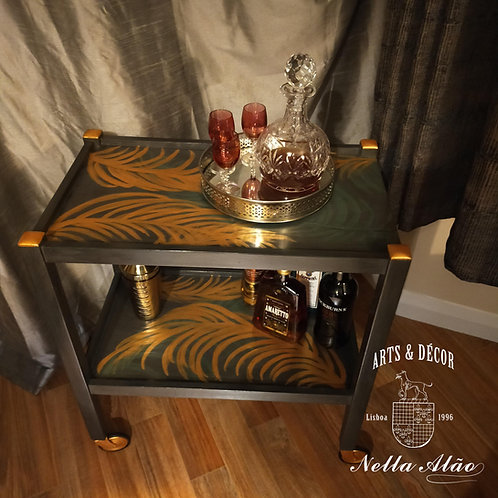 Exquisite drinks tea/coffee trolley, mid century upcycled in a modern  stylish