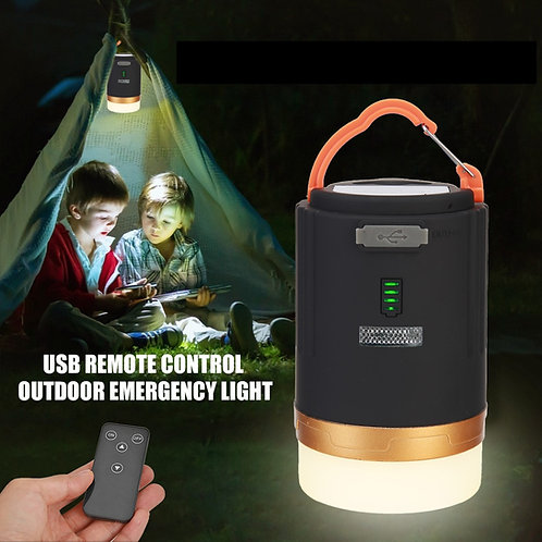 Portable USB Rechargeable Tent Camping Lamp, Power Bank Outdoor Hiking Camping