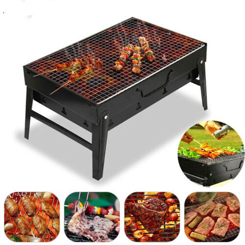 Small BBQ Barbecue Grill Folding Portable Charcoal Outdoor