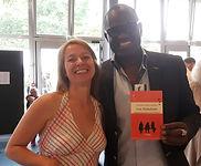 Alain Mabanckou et Alexandra Pasquer au Salon du livre de L'Haÿ les Roses