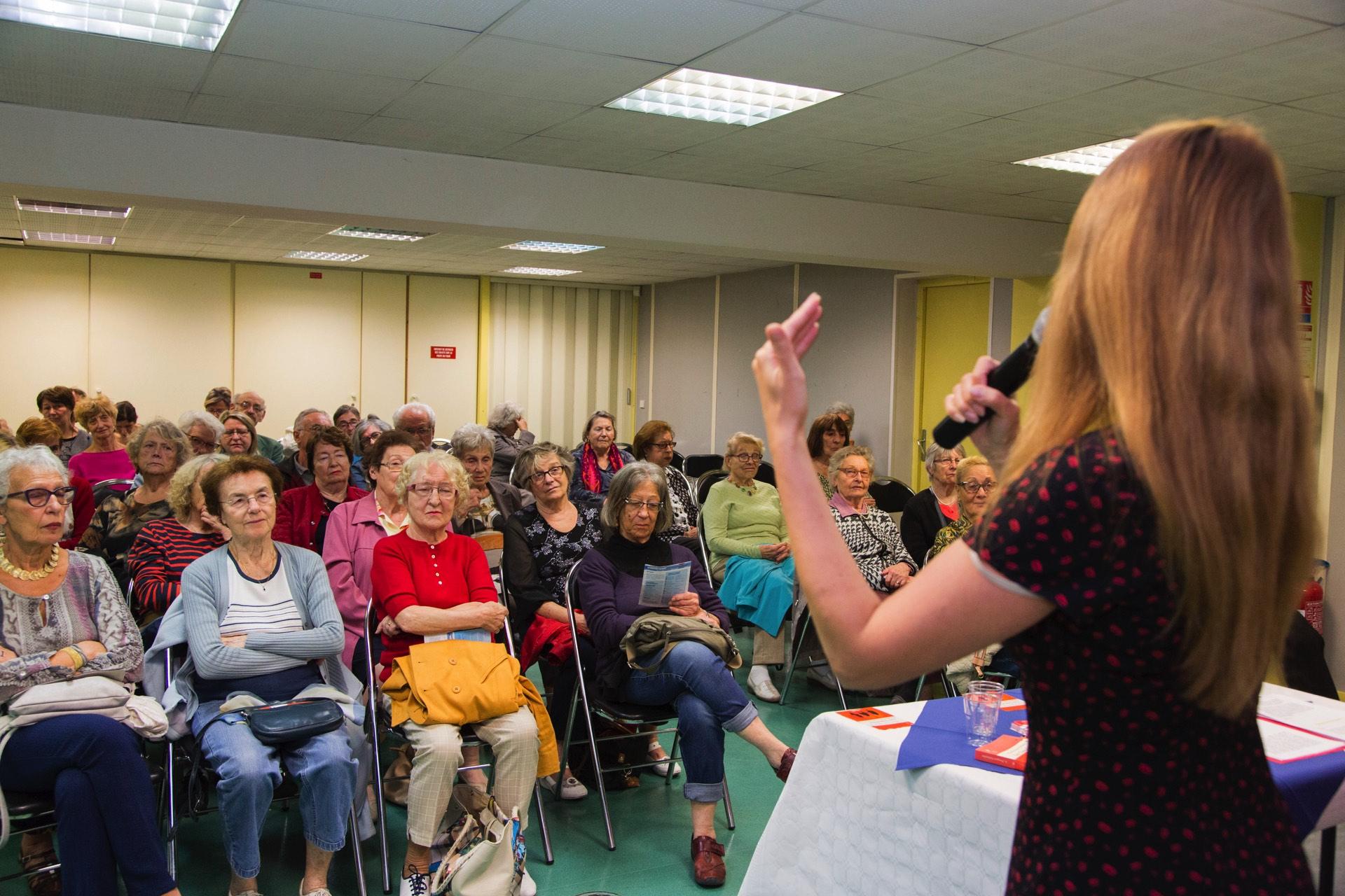 Echange avec un public concentré !