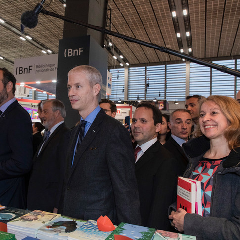 Edouard Philippe et Franck Riester à Livre Paris