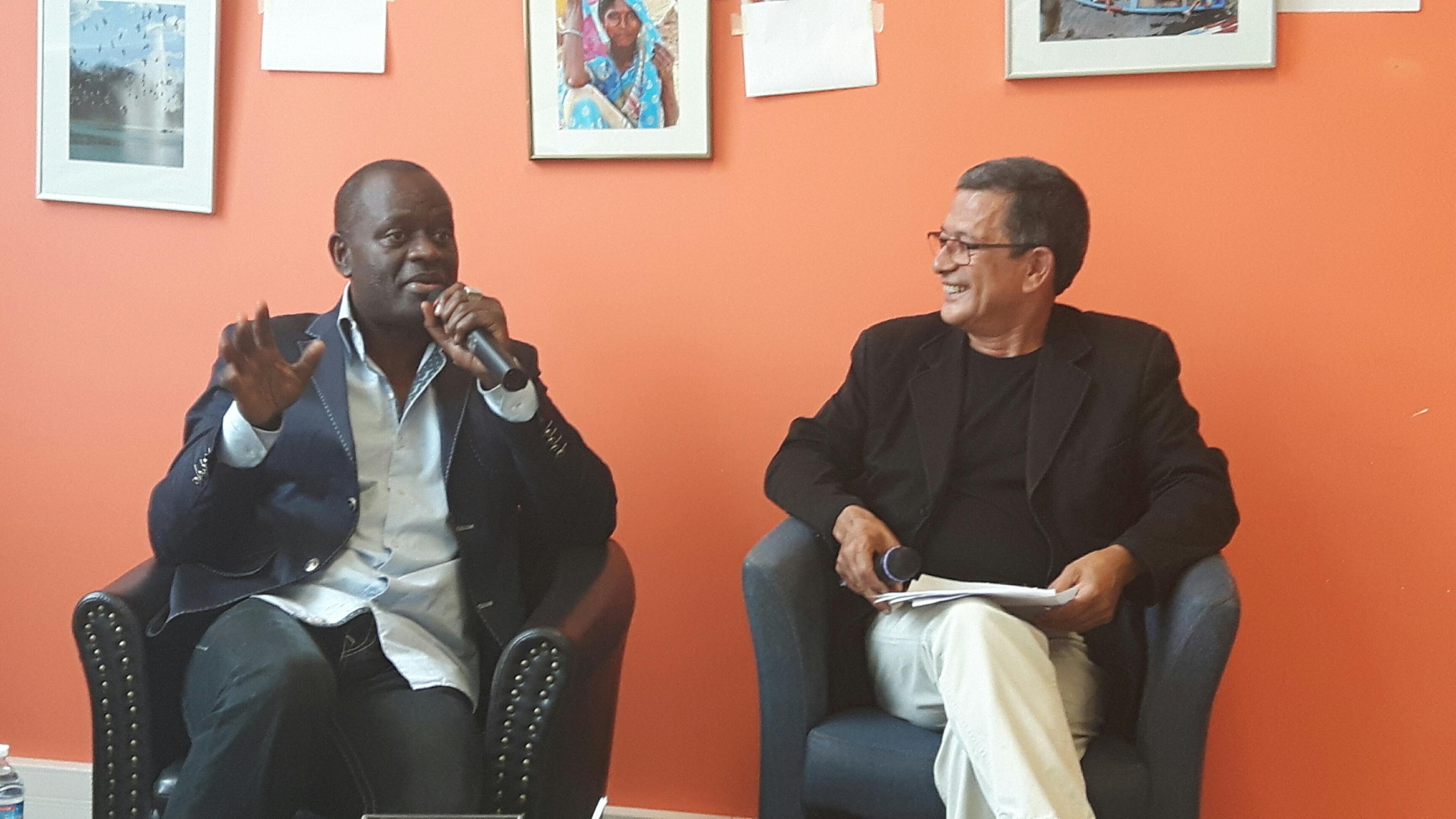 Alain Mabanckou et Yahia Belaskri