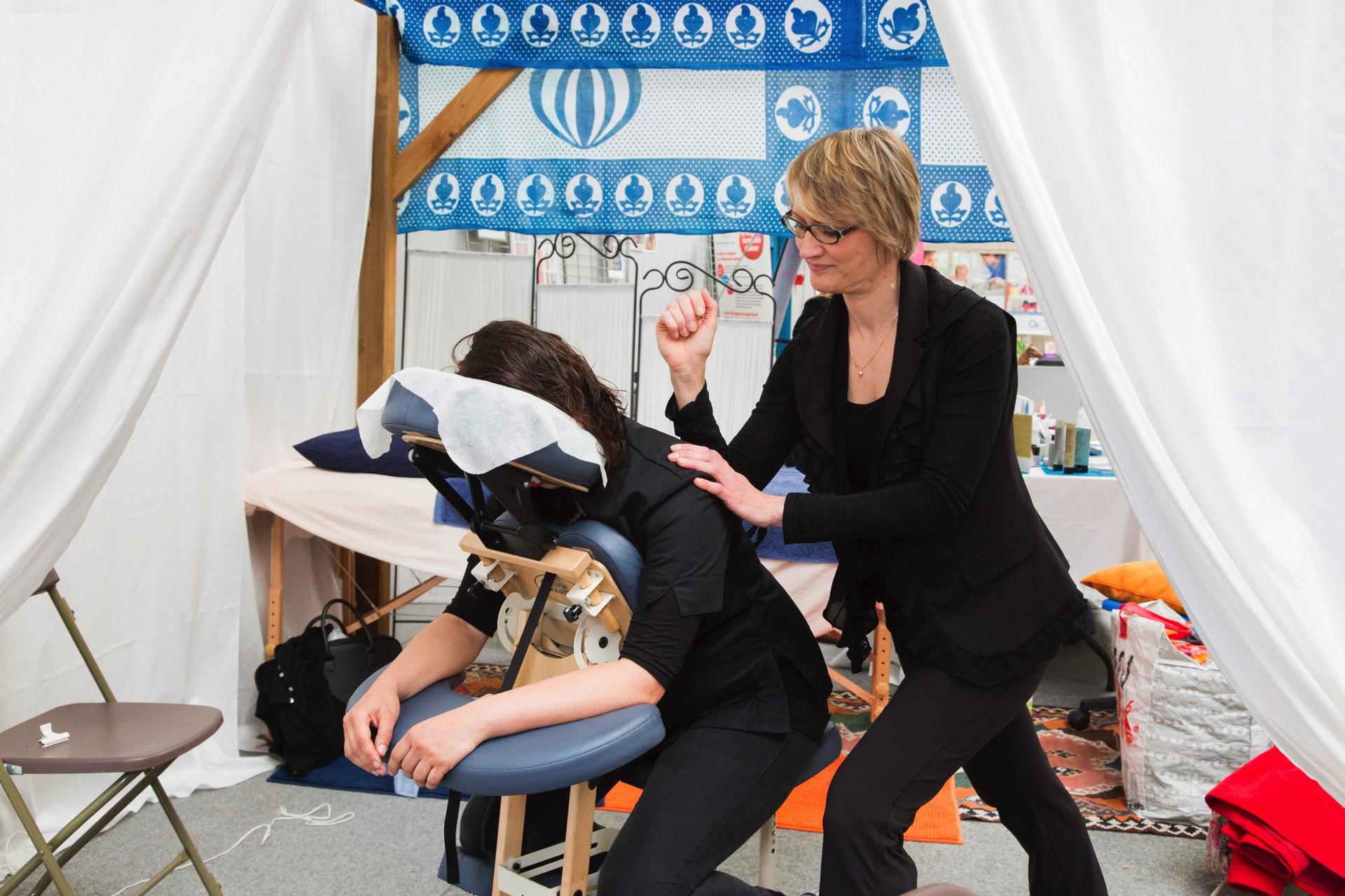 Massage en action !
