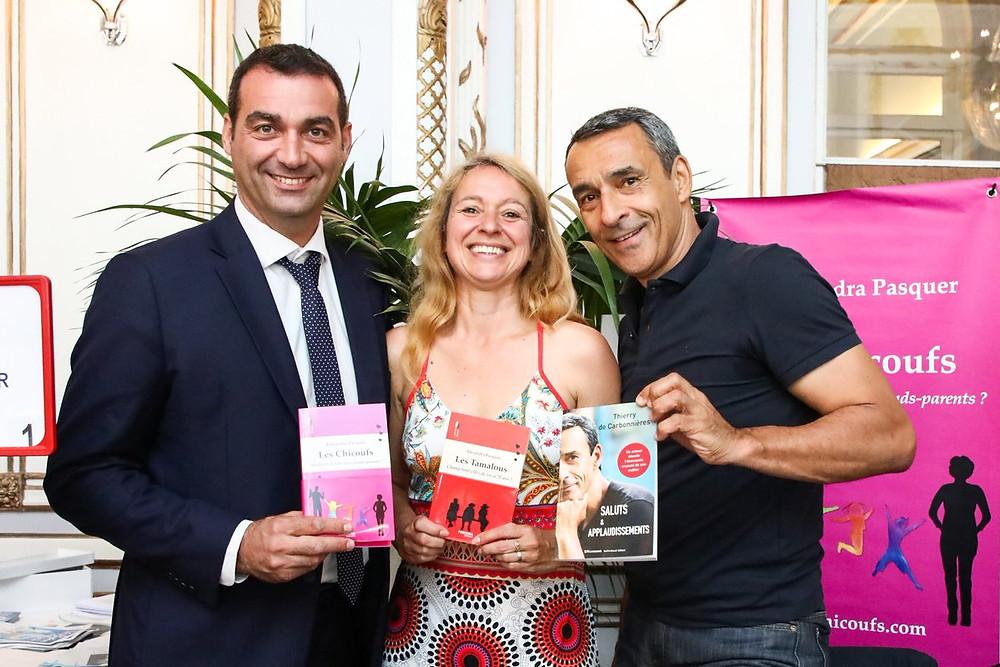 Christophe Blanchet, député du Calvados, Alexandra Pasquer et Christophe de Carbonnières