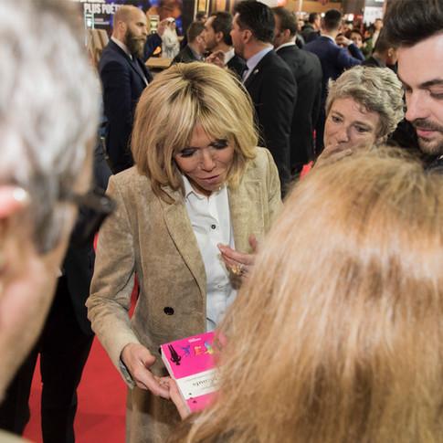 Avec Brigitte Macron à Livre Paris