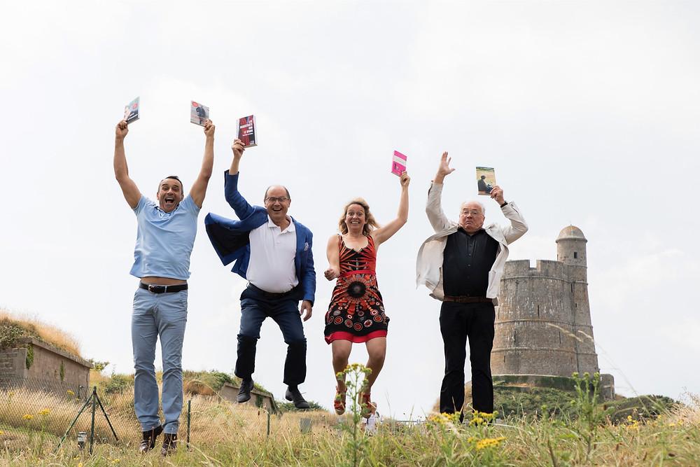 Quelle ambiance à Ancres et Encres avec Thierry de Carbonnières, Dominique Verdeilhan, Alexandra Pasquer et Yves Jacob