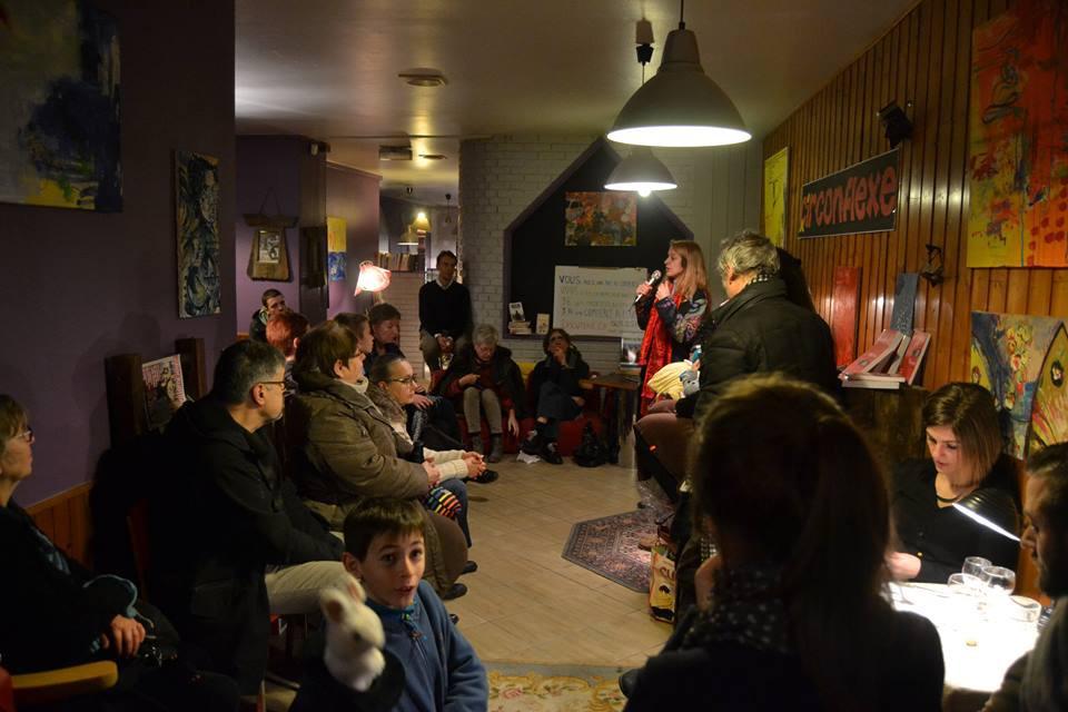 1er événement du lieu culturel associatif Le Circonflexe à Nogent-le-Rotrou, qui a fait la part belle aux lectures et aux belles rencontres ! Merci à toute l'équipe et vivement le mois d'avril pour l'ouverture officielle.