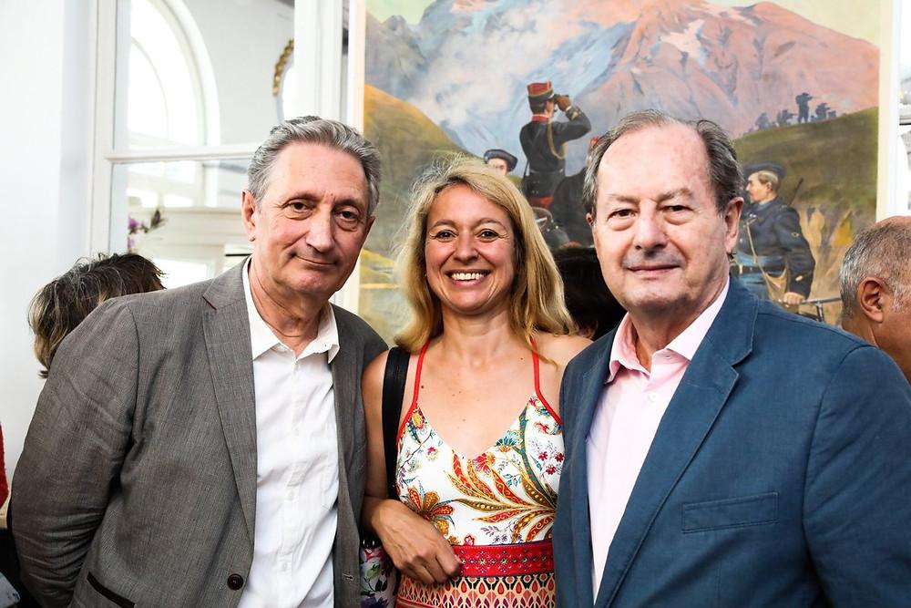 Gérard de Cortanze, Alexandra Pasquer et Jean-Marie Rouart