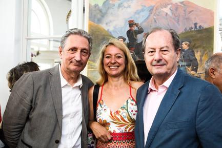 Avec Jean-Marie Rouart et Gérard de Cortanze