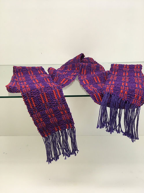 Custom Woven Clergy Stole, Blue and Red