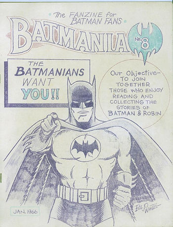 Issue of Batmania, a fan magazine, that was released the month the series debuted.