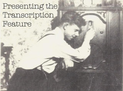 Presenting the Transcription Feature