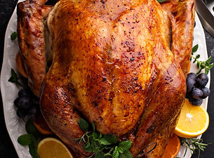 Festive celebration roasted turkey for T