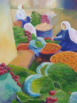 Vegetable Market Women