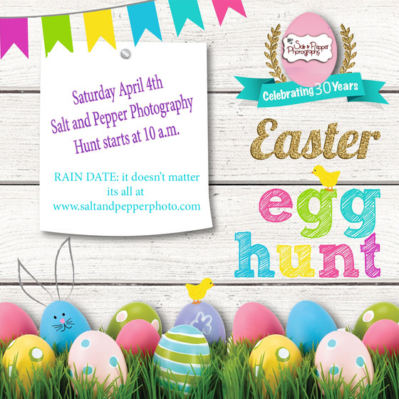 Easter Egg HUNT.... we can't go outside and be around big groups right now but that doesn't