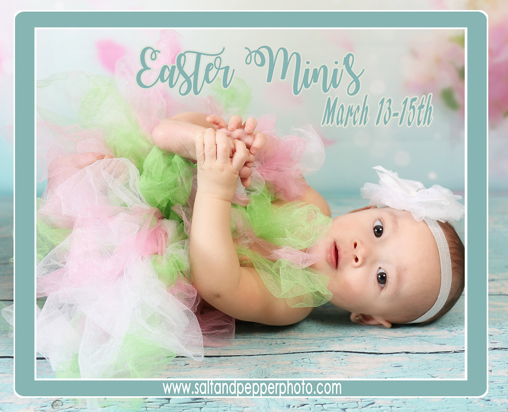 So excited to have our Easter Bunnies hoping around the studio. Easter Minis sessions will fill up fast, a great way to capture the fun and emotions of your little ones faces with all the emotions!