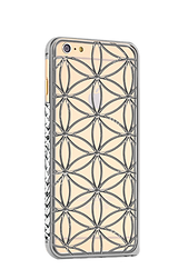 Flower of Life White Gold iPhone Case