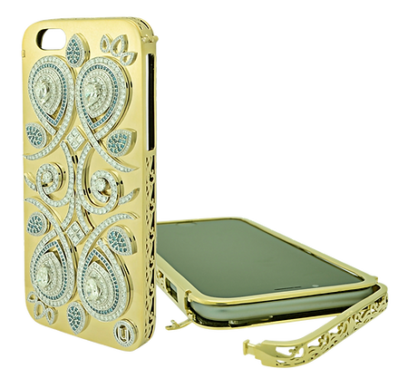 Tesori Diamond and Gold iPhone Case