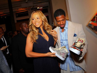 Custom Crystal Sneakers for Mariah Carey and Nick Cannon