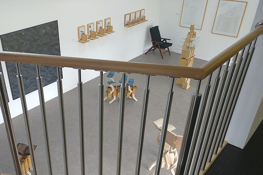 Looking down into the studio...