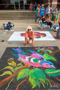 Artist Julie DeVille