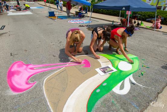 Artists Kristen Bayman, Lauren Bertke, Lauren Coxen
