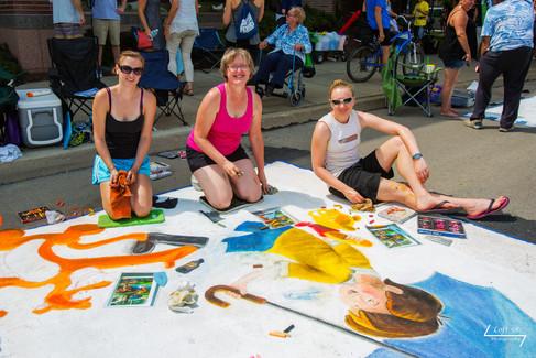 Artists Dana Stuenkel, Ginger Leinhos, Joni DeMien