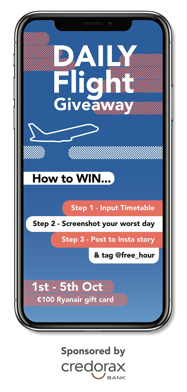 FreeHour Rollup Banner - Flight Giveaway