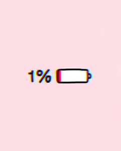 image showing low battery symbol with 1% next to it