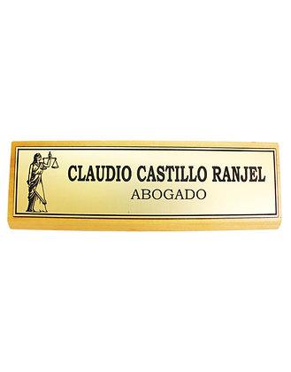GALVANO ESCRITORIO C/PLACA METALLEX