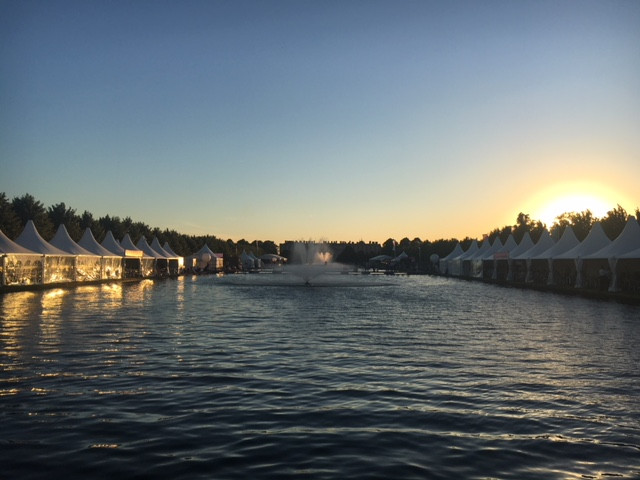 Sunset over the Long Water at RHS Hampton Court Palace Flower Show