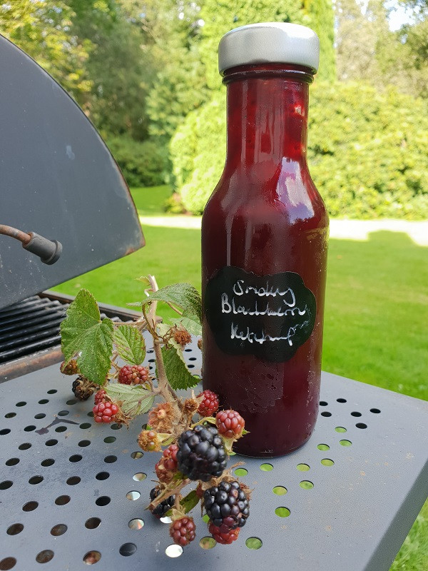 Finished Smoky blackberry ketchup
