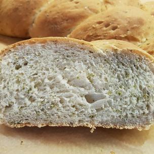 Nettle seed and dandelion honey Lammas bread