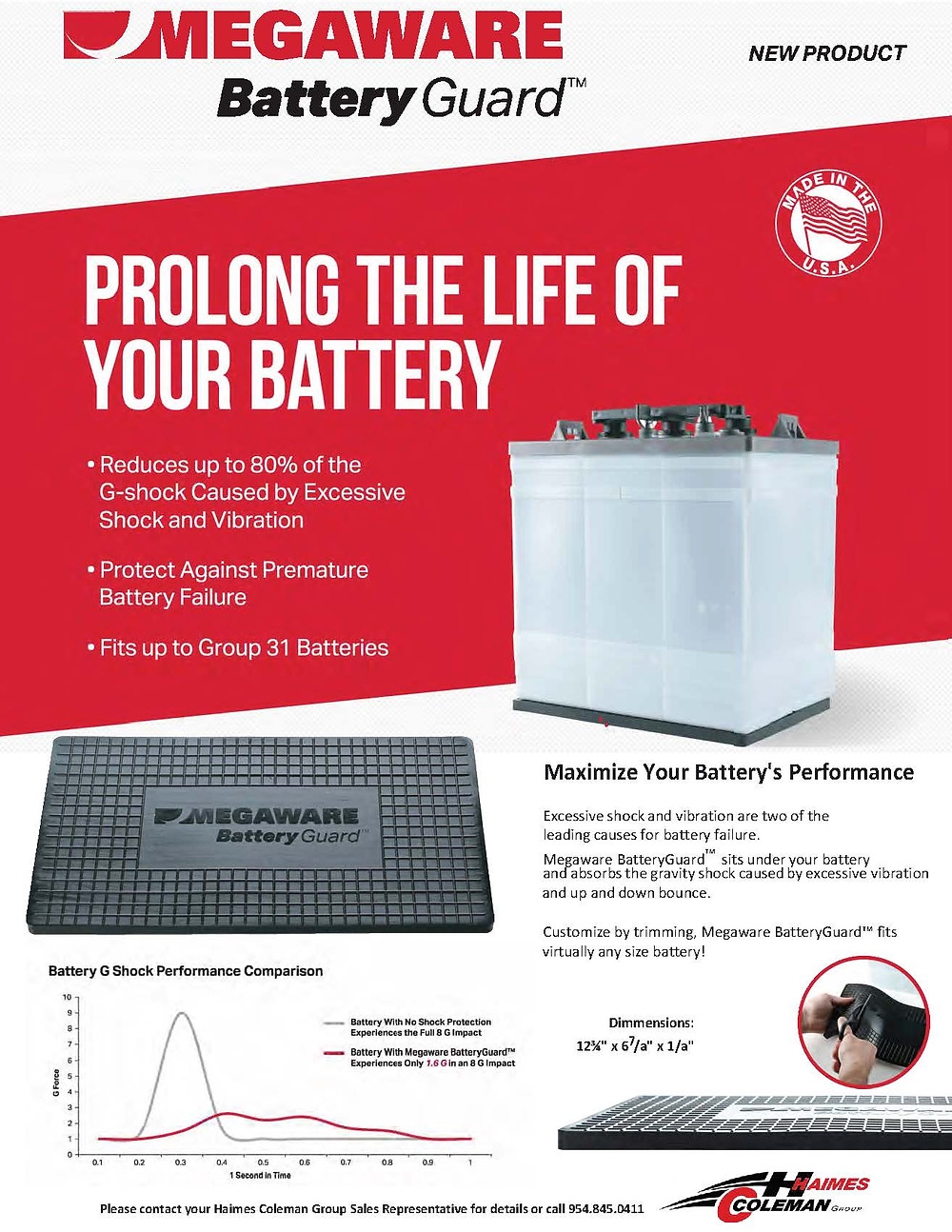 Prolong the life of your battery by reducing up to 80% of the G-shock caused by excessive shock and vibrations