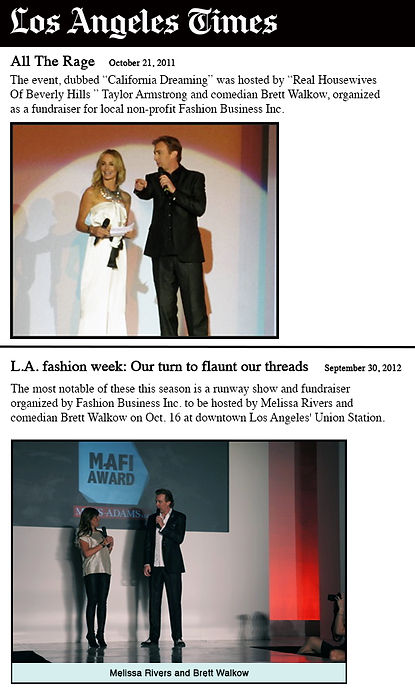 FBI Fashion Awards LA times article 2018