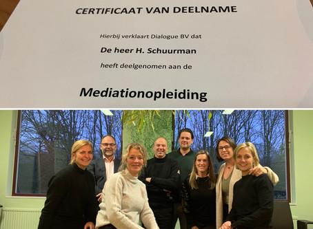 Mediationopleiding afgerond