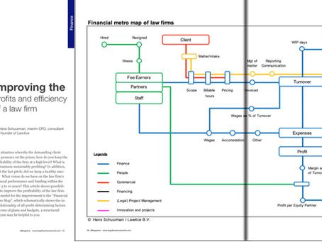 "Internationaal artikel over de ""Financial Metro Map of Law firms"""
