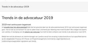 Trends in de advocatuur 2019