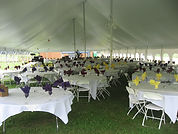 Pole Tent with Tables