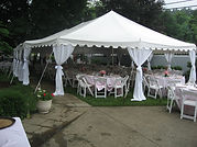 Pole Curtains Oval Tent