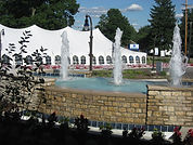 Tent and Fountain