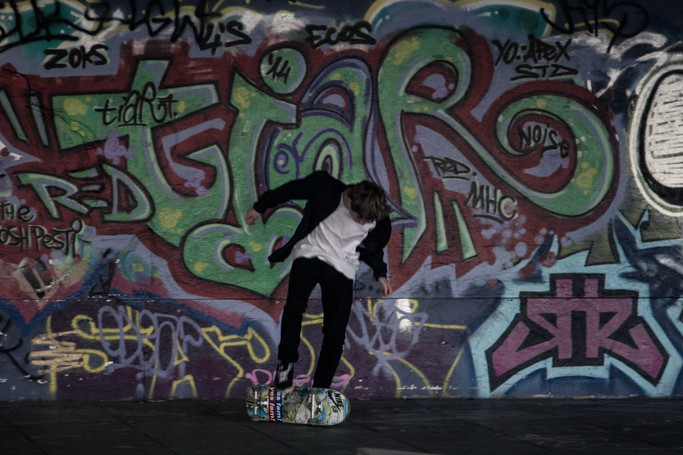Skateboarding at Southbank