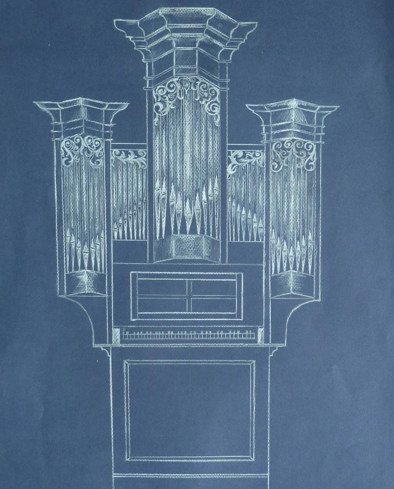 Buschbeck organ drawing