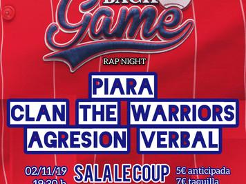 "Concierto: ""Back in the Game"" Sala Le Coup Gasteiz"