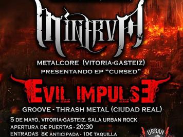 """Concierto: Bellako, Minerva y Evil Impulse """"Rock Urban Concept"""" (Gasteiz)"""" 2018"""