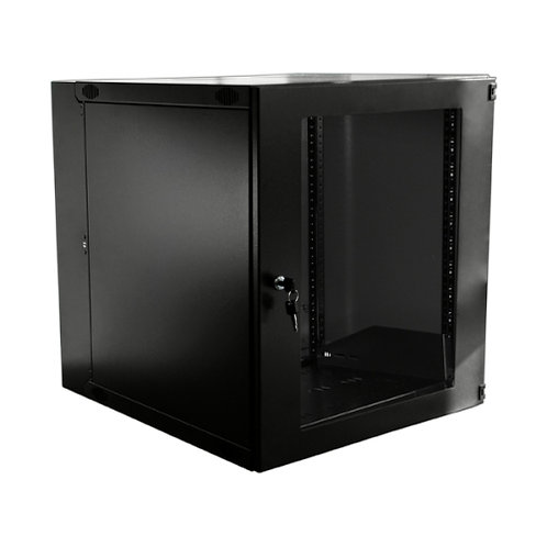 WALL MNT DBL HINGED- 9RU -- BLACK