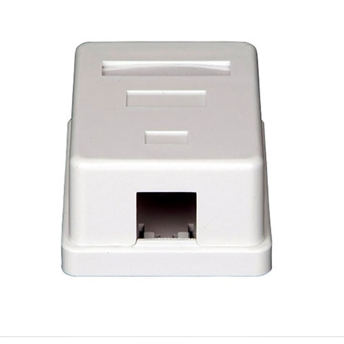 Surface Mount Box Keystone 1Port White