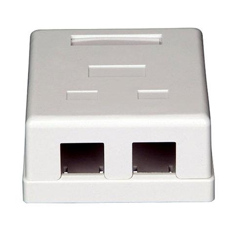 Surface Mount Box Keystone 2Port White